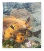Goldfish In An Aquarium Fleece Blanket