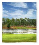 Golf At Pinehurst  Fleece Blanket