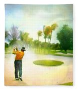 Golf At The Blue Monster In Doral Florida 02 Fleece Blanket