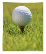 Golf Ball On Tee Fleece Blanket