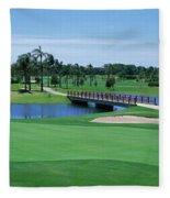 Golf Course Gold Coast Queensland Fleece Blanket