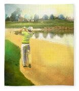 Golf In Club Fontana Austria 02 Fleece Blanket