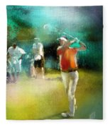 Golf In Club Fontana Austria 03 Fleece Blanket
