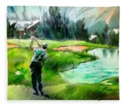 Golf In Crans Sur Sierre Switzerland 01 Fleece Blanket