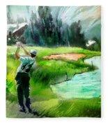 Golf In Crans Sur Sierre Switzerland 01 Fleece Blanket