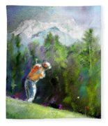 Golf In Crans Sur Sierre Switzerland 02 Fleece Blanket
