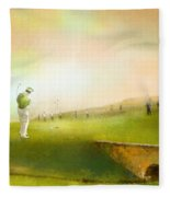 Golf In Scotland Saint Andrews 02 Fleece Blanket