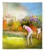 Golf Madrid Masters  02 Fleece Blanket