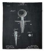 Golf Tee Patent 1899 Chalk Fleece Blanket