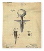 Golf Tee Patent 1899 Sepia Fleece Blanket