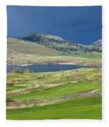 Golfing And Grazing Fleece Blanket