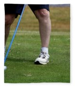 Golfing Driving The Ball In Flight Fleece Blanket