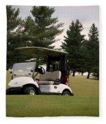 Golfing Golf Cart 01 Fleece Blanket
