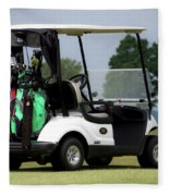 Golfing Golf Cart 05 Fleece Blanket