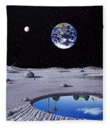 Golfing On The Moon Fleece Blanket