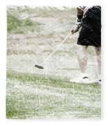 Golfing Putting The Ball 01 Pa Fleece Blanket