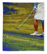 Golfing Putting The Ball 02 Pa Fleece Blanket