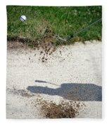 Golfing Sand Trap The Ball In Flight 01 Fleece Blanket