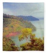 Golfo Dulce Costa Rica Fleece Blanket