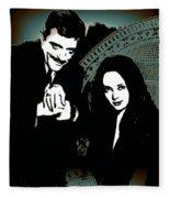 Gomez And Morticia Addams Fleece Blanket