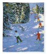 Gondola Austrian Alps Fleece Blanket
