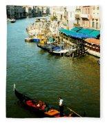 Gondola In Venice Italy Fleece Blanket