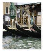 Gondola Pier Fleece Blanket