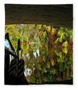 Gondola Under A Bridge Fleece Blanket