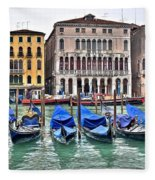 Gondolas Galore Fleece Blanket