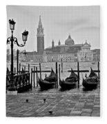 Gondolas Of San Marco Square Fleece Blanket