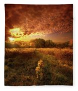 Gone Far Away Into The Silent Land Fleece Blanket