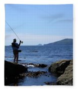 Gone Fishing Fleece Blanket