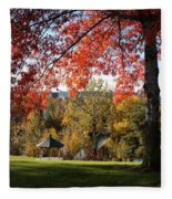 Gonzaga With Autumn Tree Canopy Fleece Blanket