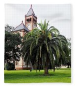 Gonzales County Court House Fleece Blanket
