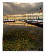 Good Day To Sail Fleece Blanket