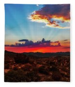 Good Evening Arizona Fleece Blanket