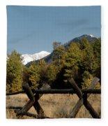 Good Fences Make Good Neighbors .... Robert Frost Fleece Blanket