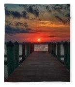 Good Morning Fort Myers Fleece Blanket