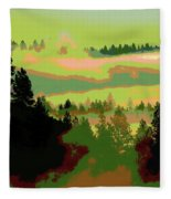 Good Morning In Spokane Fleece Blanket