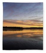 Good Morning Lake Springfield Fleece Blanket