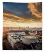 Good Morning  Munich Fleece Blanket