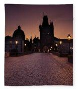 Good Morning Prague  Fleece Blanket