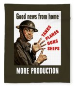 Good News From Home - More Production Fleece Blanket