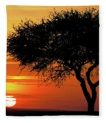 Good Night, Maasai Mara Fleece Blanket