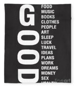 Good Things Fleece Blanket