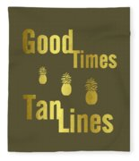Good Times - Typography Fleece Blanket