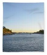 Goose Neck Cove - Newport Rhode Island Fleece Blanket