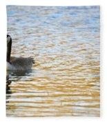 Goose On The Pond Fleece Blanket