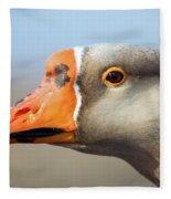 Goose Portrait Fleece Blanket
