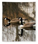 Goose Reflection Fleece Blanket